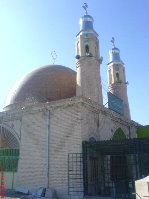 کنگاور شهر تمدن و تدین - امامزاده ابراهیم(س) - معبد آناهیتا - گنبد امامزاده بعد از بازسازی