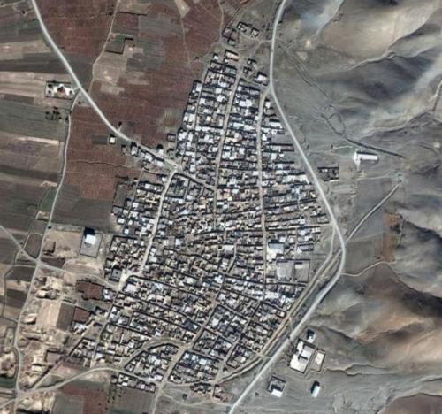 کنگاور شهر تمدن و تدین - عکس هوایی روستای گودین - گودین تپه - Kangavar Godin Tepe